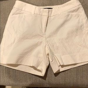 White House Black Market textured material shorts